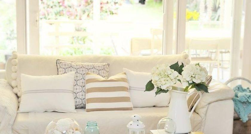 Neutral Coastal Decor Living Room