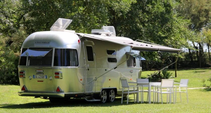 New Airstream Camping Italy Feet Ground