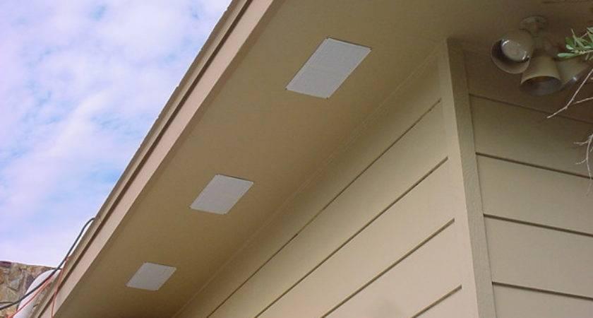 New Bathroom Fan Roof Vent Soffit Homeimprovement