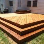 New Deck Herringbone Decking Pattern Railing