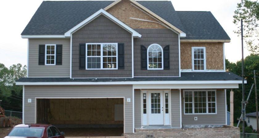 New House Construction Progress Shaker Siding