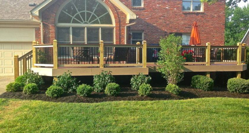 New Landscaping Around Deck Traditional Exterior