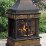 New Outdoor Patio Fireplace Wood Burning Slate Stove Steel