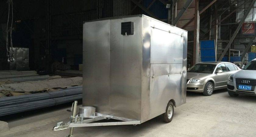 New Stainless Steel Concession Stand Trailer Mobile