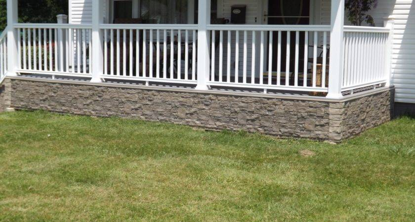 New Stone Look Front Porch Creative Faux Panels
