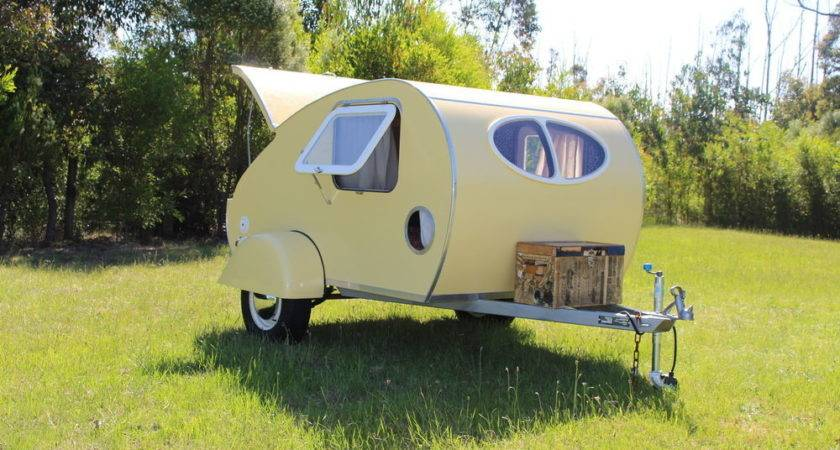 New Vintage Style Karavana Teardrop Camper Trailer Small