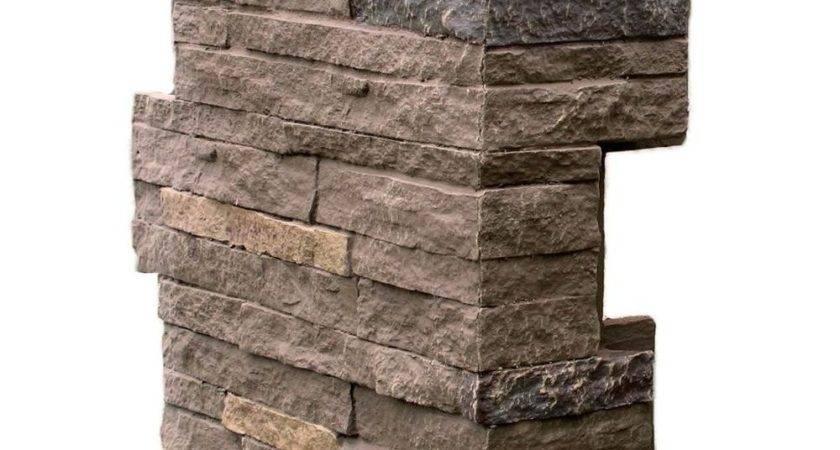 Nextstone Stacked Stone Walnut Brown