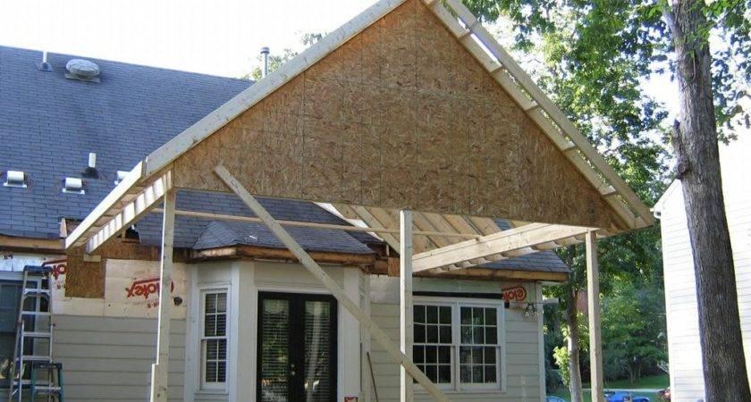 Nice Porch Roof Framing Karenefoley Chimney