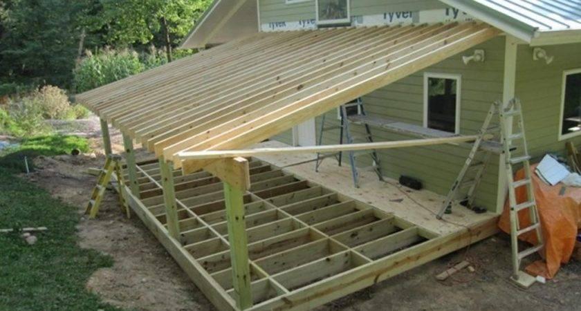 Nice Roof Under Deck Framing Addition Shed House