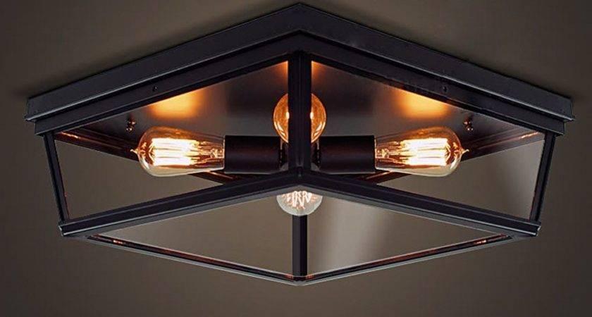 Nordic Retro Led Ceiling Light Lamp Bedroom Living Room