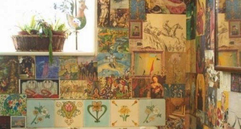 Notebook Wall Decoupage