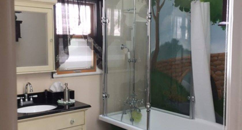Oasis Vintage Antique Clawfoot Tub Glass Shower Surround