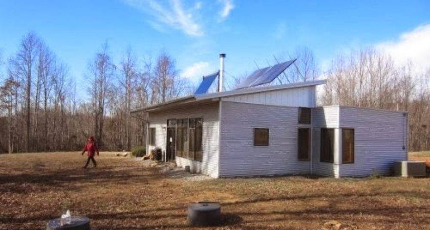 Off Grid Prefab Home Sunset