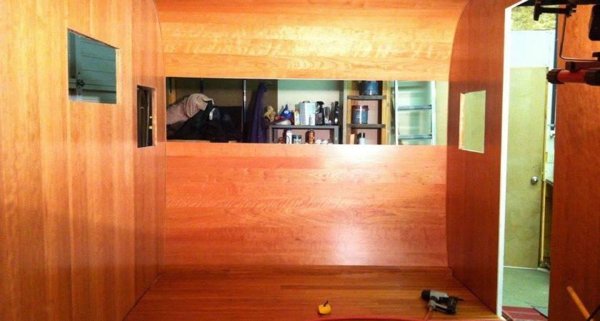 Old Canned Ham Vintage Aloha Trailer Flooring Installed