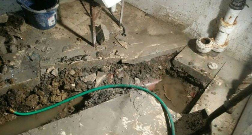 Old Clay Sewer Pipes Under Basement Plumbing Diy Home