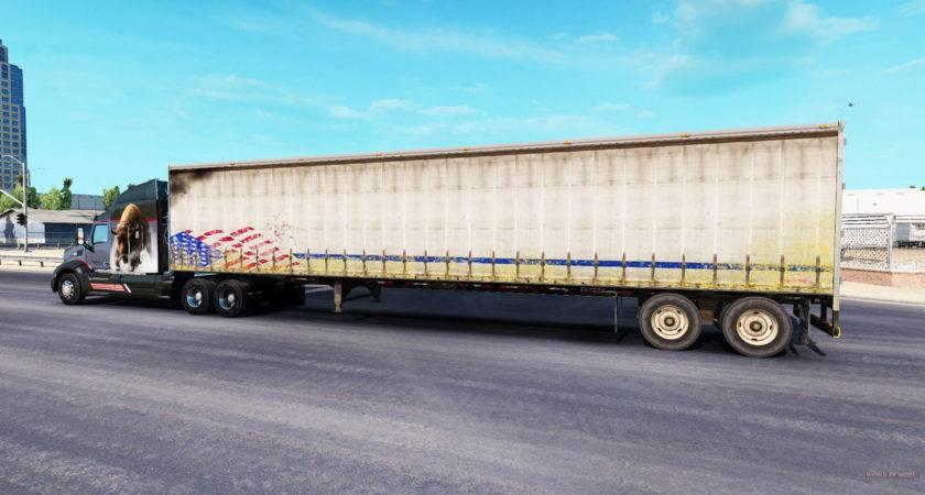 Old Curtain Semi Trailer American Truck Simulator