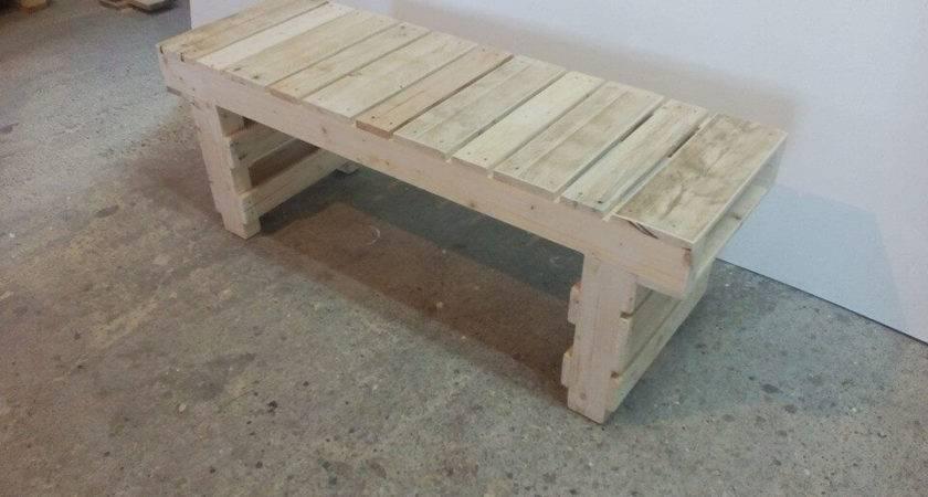 Old Pallet Wood Bench Pallets