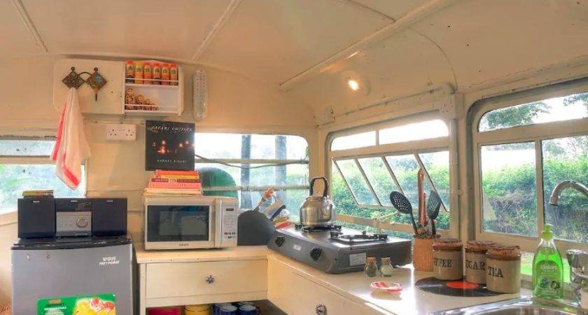 Old School Bus Converted Into Serene Holiday Home