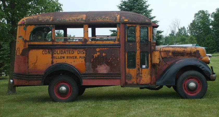 Old School Bus Pinterest
