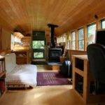 Old School Bus Turned Into Tiny Moving Home Pics