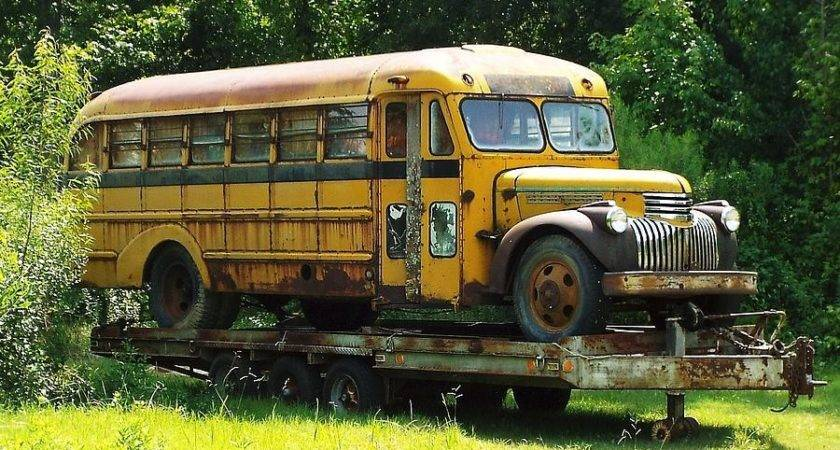 Old Schoolbus Photograph Keith Bass