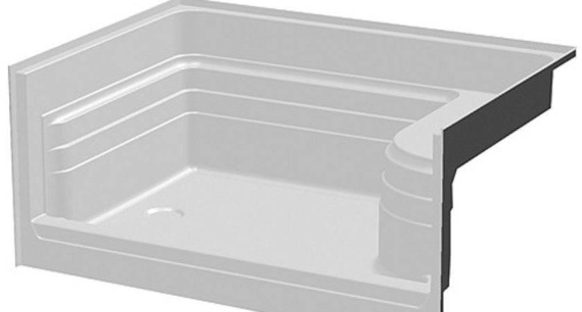 One Seat Fiberglass Shower Pan