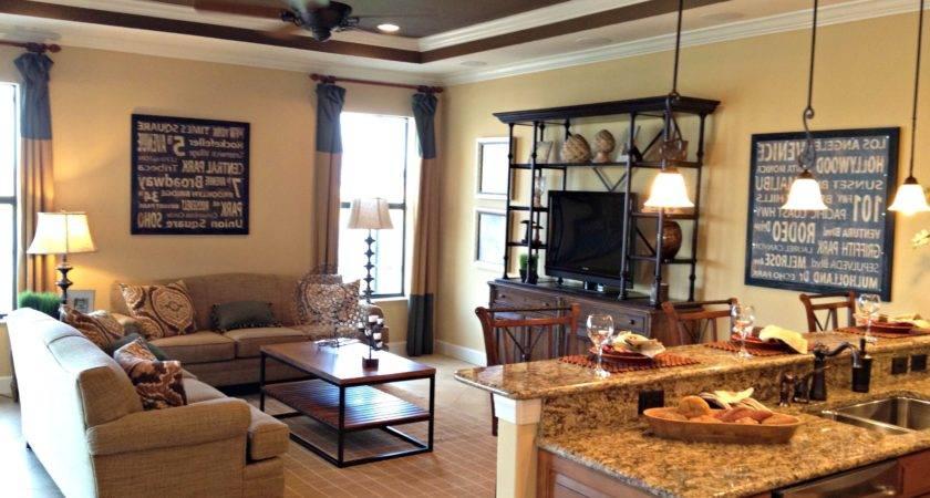 Open Concept Kitchen Living Room Floor
