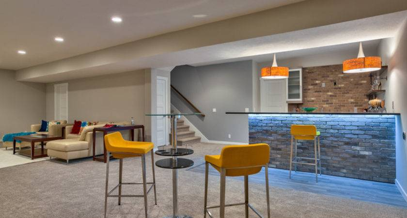 Open Concept Ranch Modern Basement Omaha Sierra