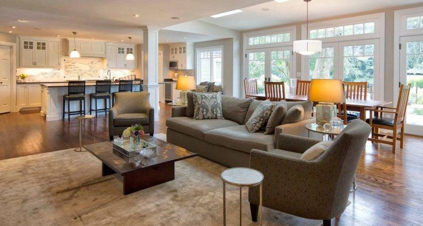 Open Floor Plan Flooring Living Room Traditional