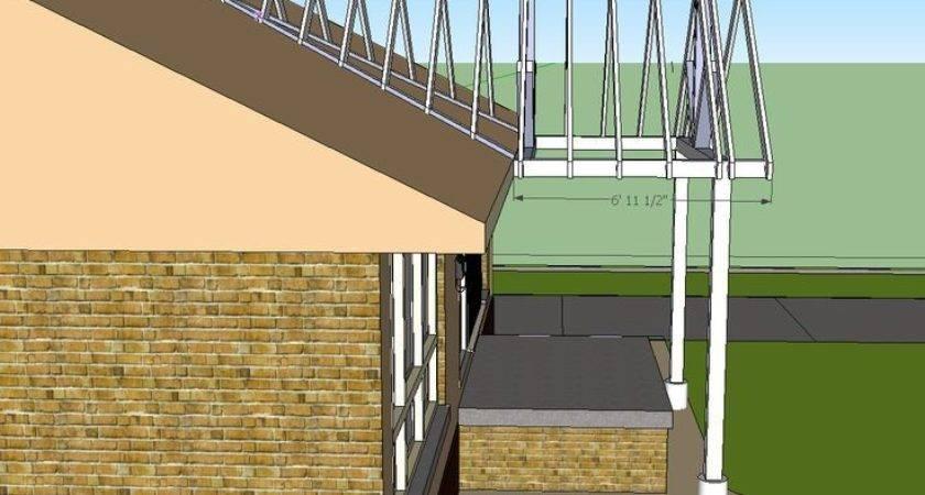 Open Gable Patio Cover Design Building End Porch