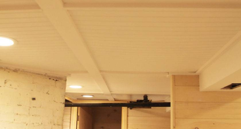 Our Basement Part Beadboard Ceiling White