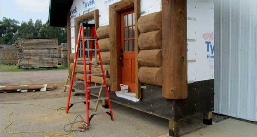Our Concrete Log Siding Installation Process Nextgen Logs