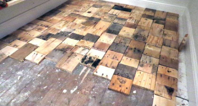 Our Diy Pallet Wood Floor Cost Only Bored Panda