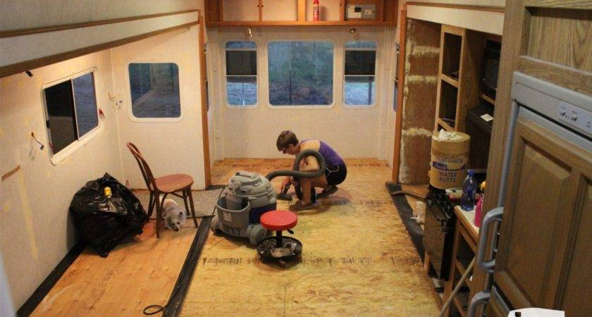 Our Fifth Wheel Mid Renovation Tour Wheeled