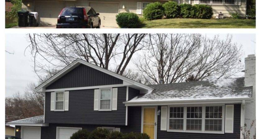 Our Split Level Siding Makeover Had Hardest Time