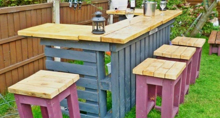 Outdoor Bathroom Plans Diy Pallet Bar Made
