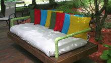 Outdoor Bed Sofa Built Pallets Pvc Pipesdiy