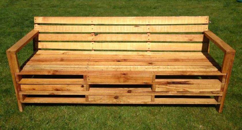 Outdoor Bench Made Meters Pallets