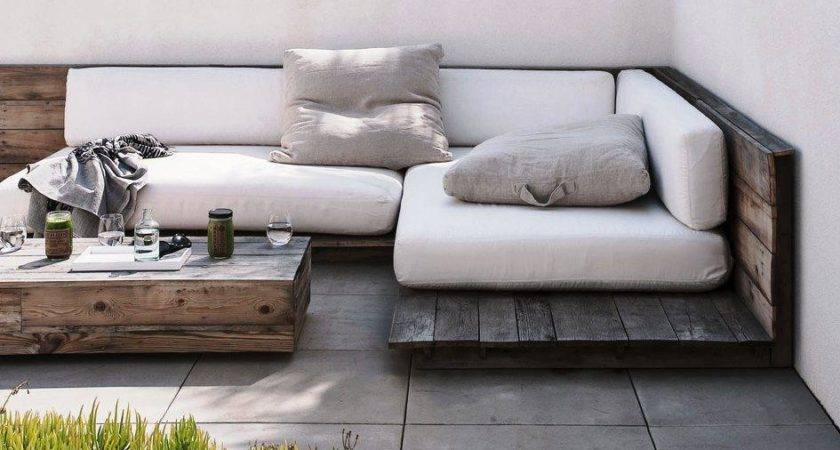 Outdoor Daybed Diy Pallet Wood Base Home Designs Insight
