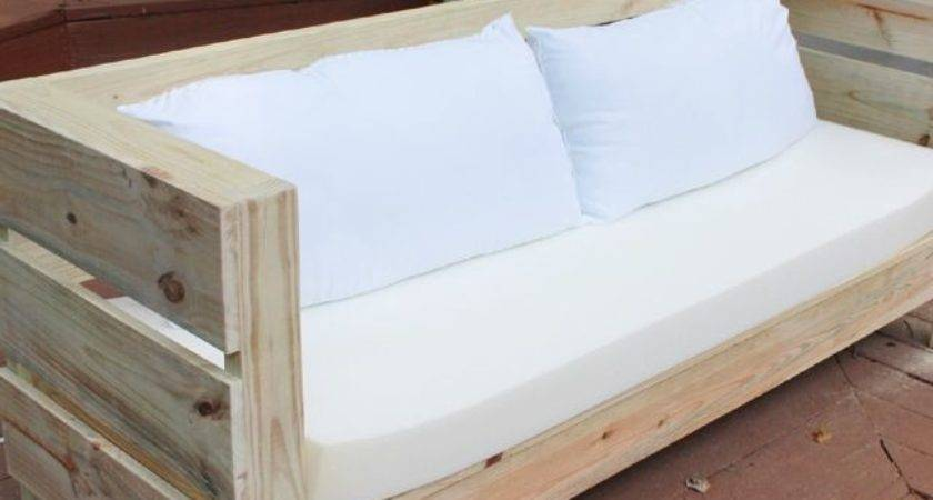 Outdoor Furniture Build Plans Diy Sofa Backyard Pallets