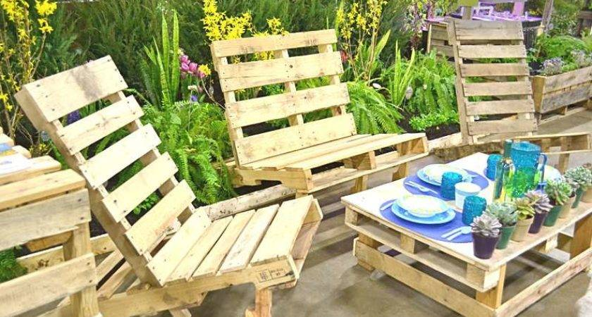 Outdoor Furniture Made Out Pallets Design Decoration