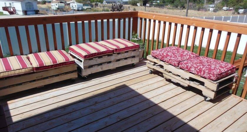 Outdoor Furniture Made Out Pallets Home Decorating Ideas