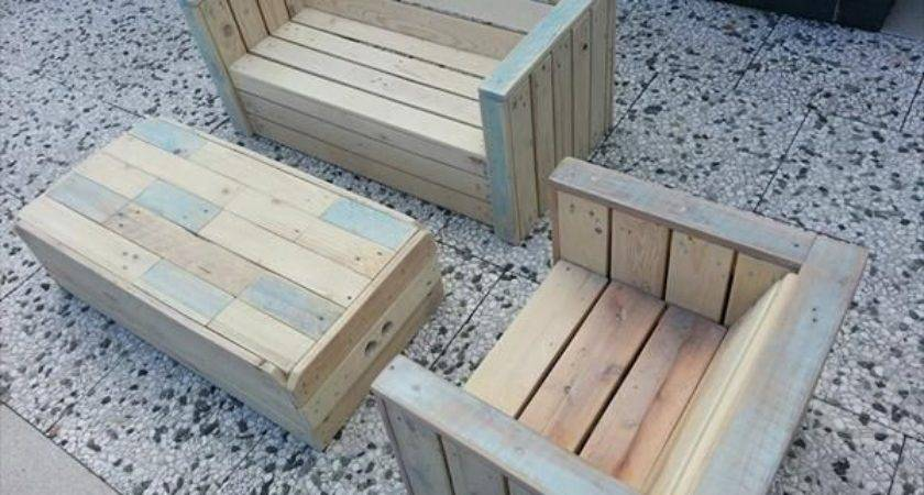 Outdoor Furniture Made Pallets Pinterest