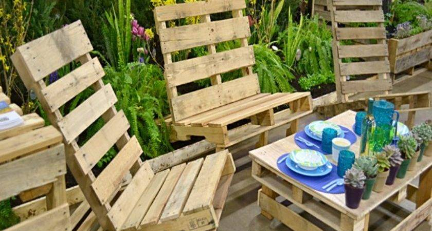 Outdoor Furniture Out Pallets Wood Pallet Ideas