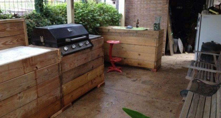Outdoor Kitchen Made Pallets Diy Pallet Ideas