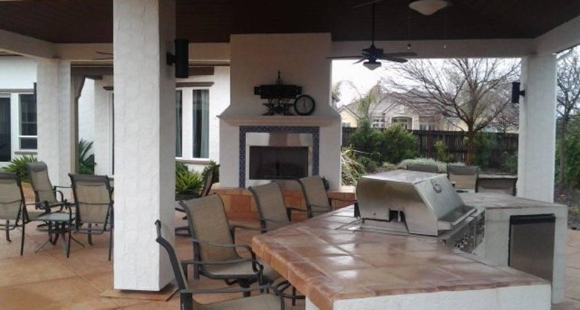 Outdoor Living Space Bbq Fireplace Expert Design