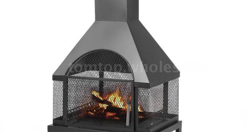 Outdoor Patio Fireplace Backyard Firepit Chiminea Wood