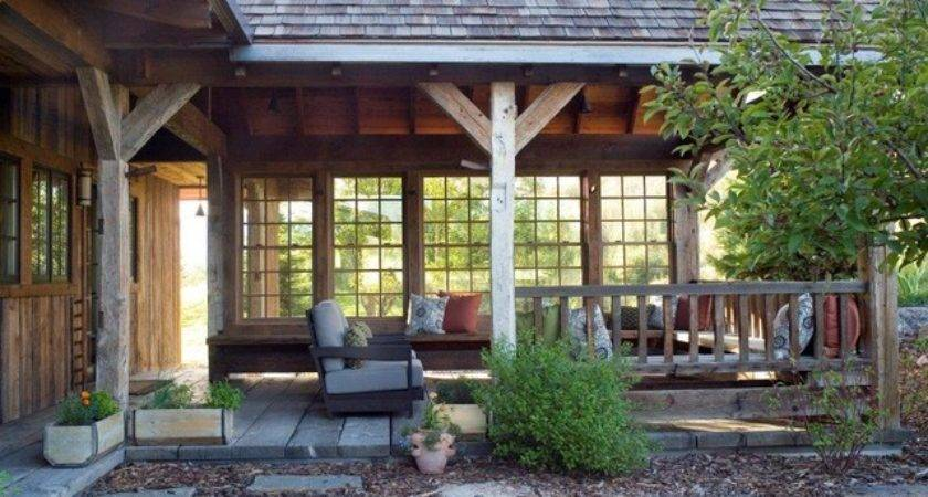 Outdoor Porch Rustic Carter Kay Interiors