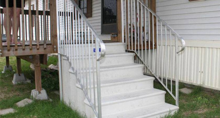 Outdoor Stairs Mobile Homes Ideas