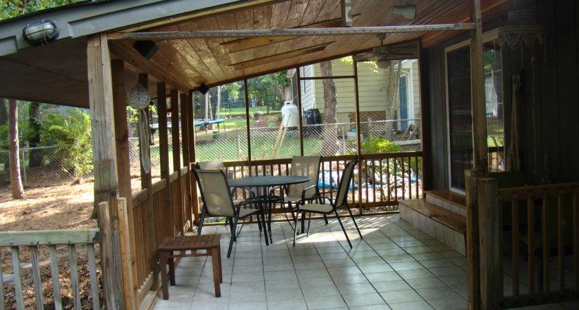 Outdoor Stylish Back Porch Ideas Home Design
